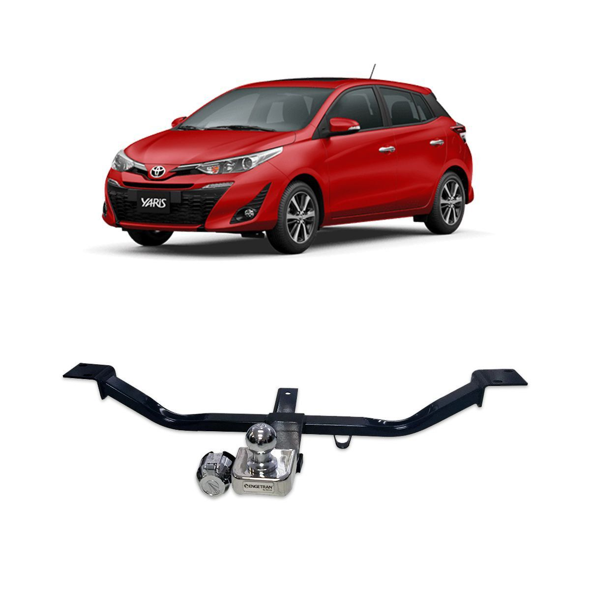Engate Reboque Yaris Hatch 2018 2019 Fixo Engetran