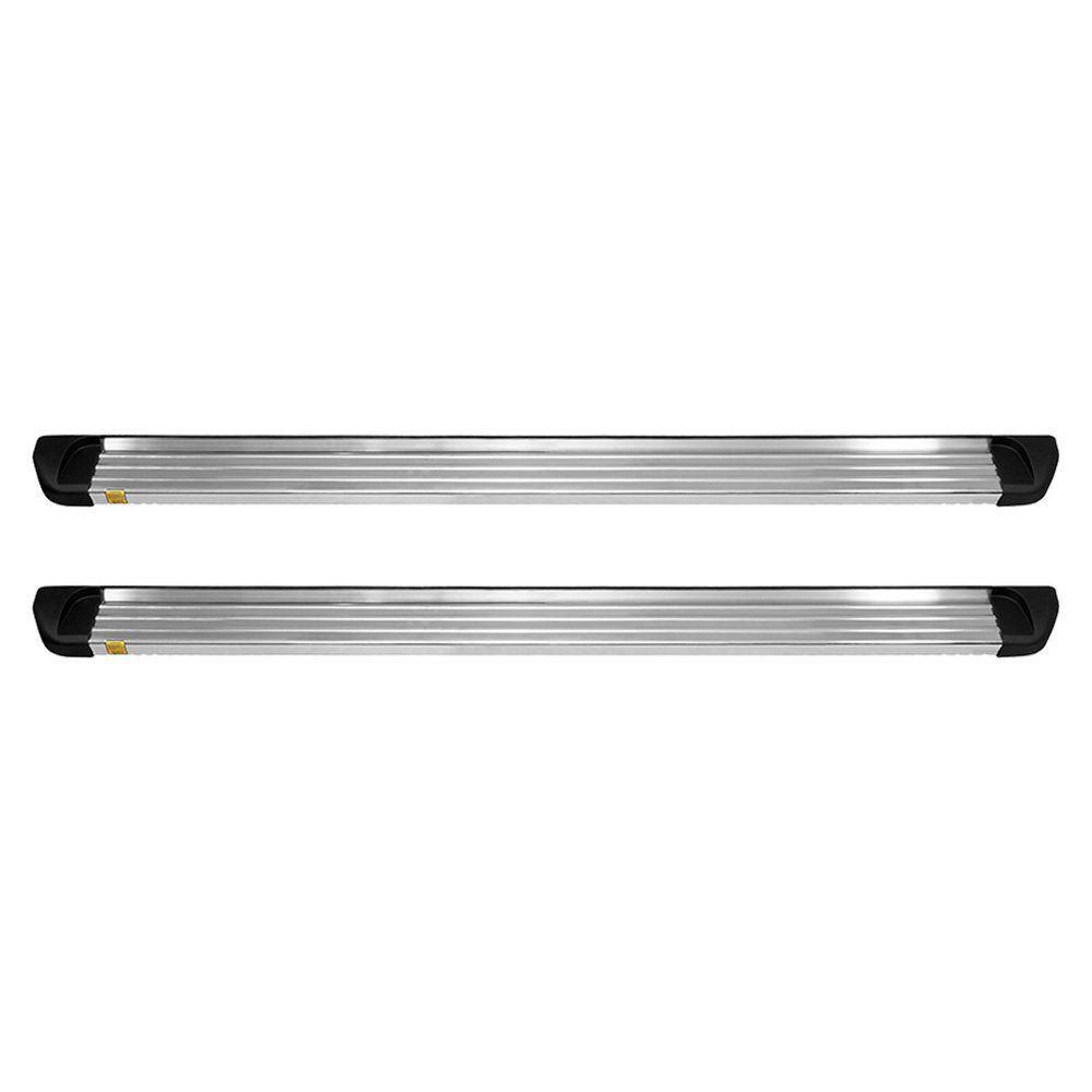 Estribo Amarok Plataforma Prata Cabine Dupla Alumínio