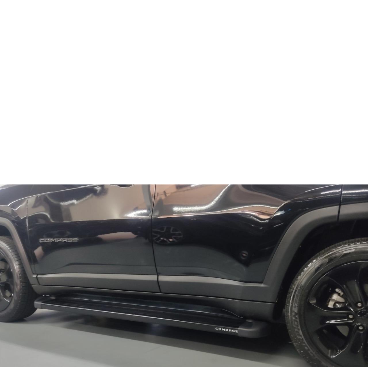 Estribo Jeep Compass Plataforma Preto em Alumínio