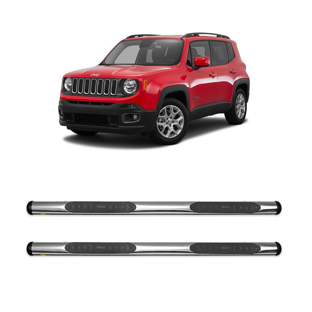 Estribo Jeep Renegade Oval Cromado 2016 em diante