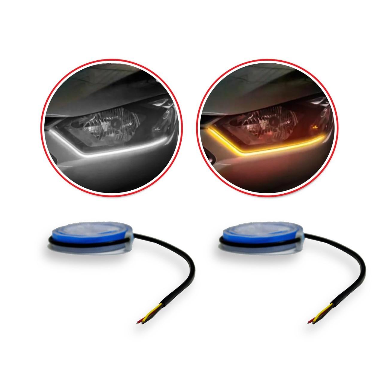 Fita de Led DLR com Pisca Dual Color 60 CM Universal Suns FDR706