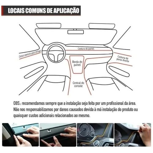 Fita de Led Luz Interna Neon Laranja 3 Metros Shocklight