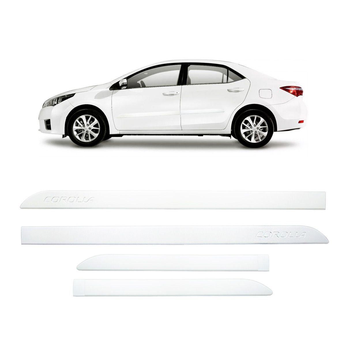 Friso Lateral Corolla Branco Perolizado 2015 a 2018 Mod Orig