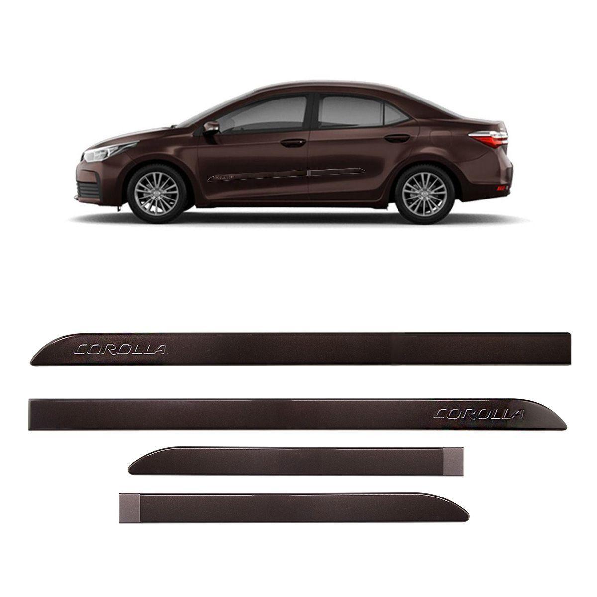 Friso Lateral Corolla Marrom Urban 2015 a 2018 Mod Original