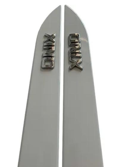 Friso Lateral Onix Hatch Sedan Prata SwitchBlade Modelo 2020 Original