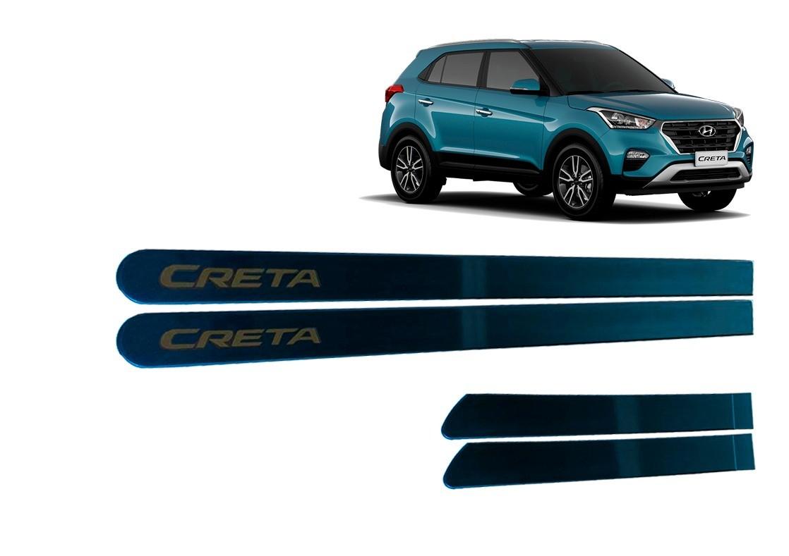 Friso Lateral Personalizado Hyundai Creta Azul Sky