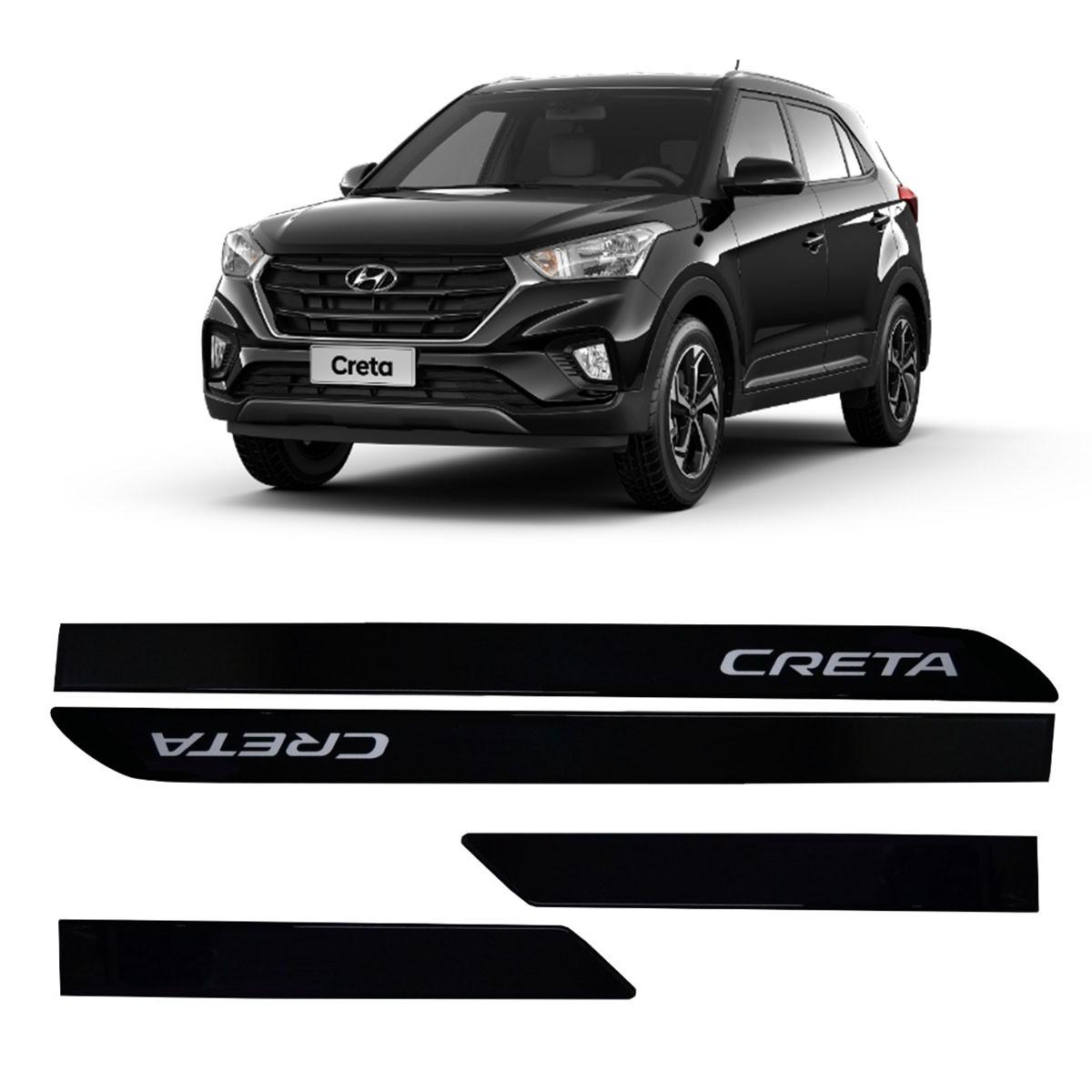 Friso Lateral Personalizado Hyundai Creta Preto Onix