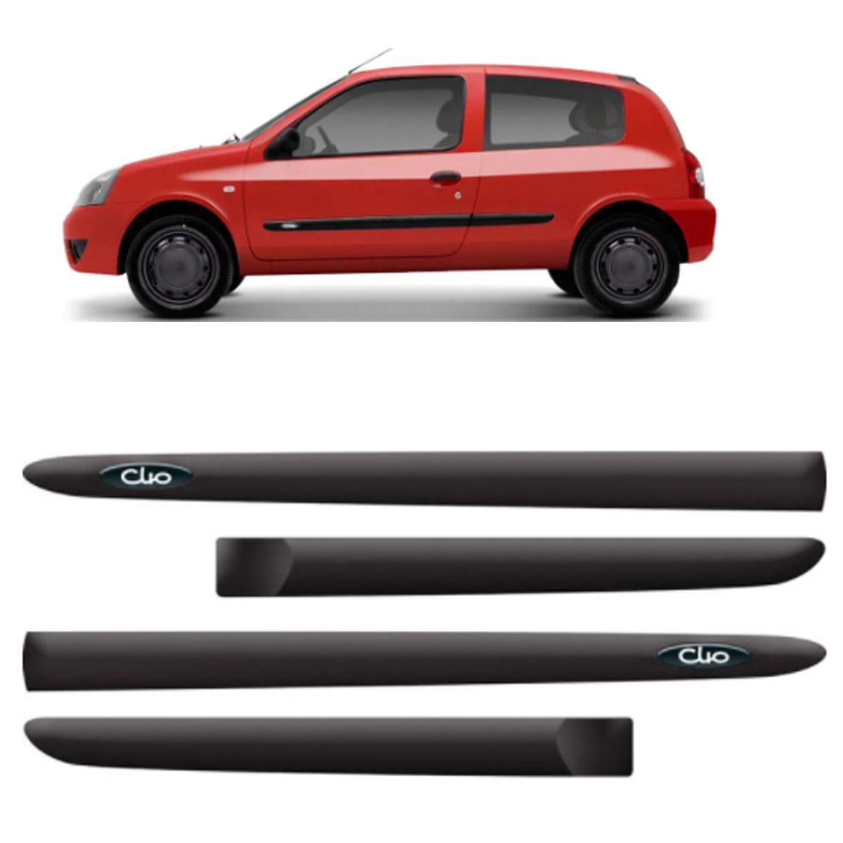 Friso Lateral Personalizado Renault Clio 2 Portas 2000 até 2012 Modelo Original