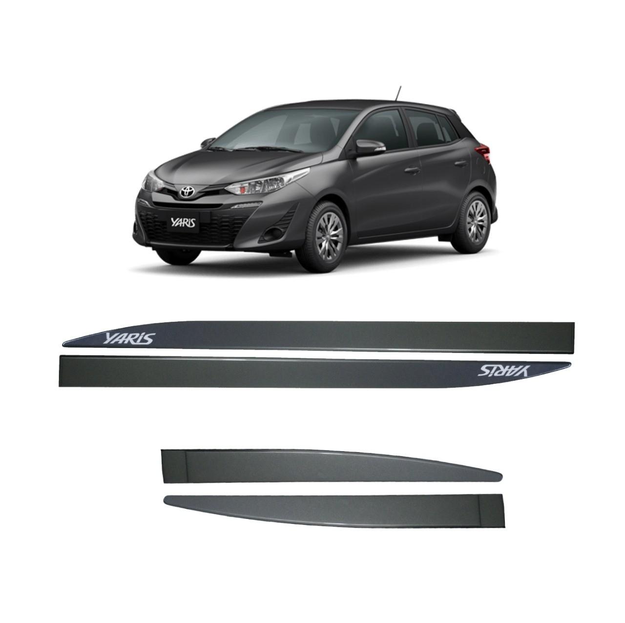 Friso Lateral Personalizado Toyota Yaris Cinza Granito