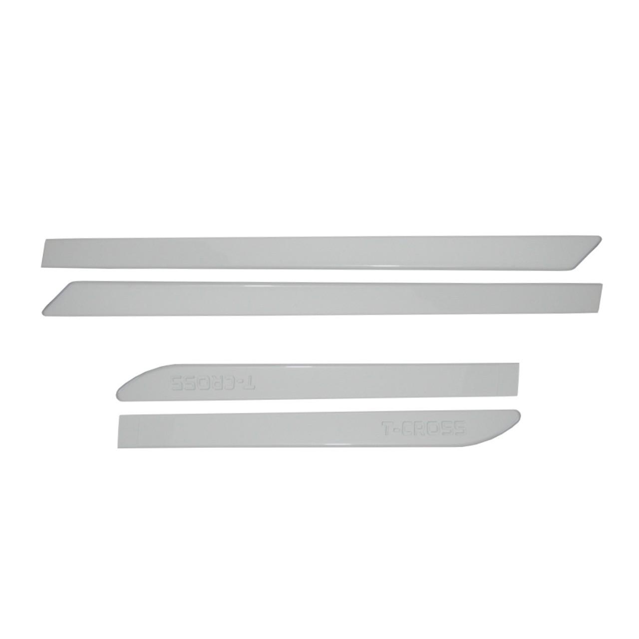 Friso Lateral T-Cross Branco Puro com nome em baixo relevo