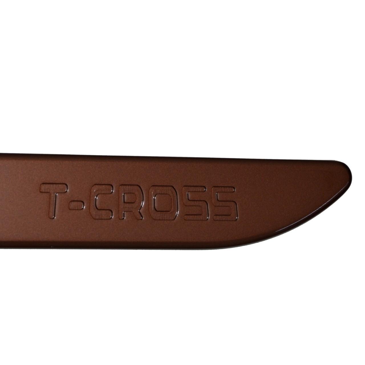 Friso Lateral T-Cross Bronze Namibia com nome em baixo relevo