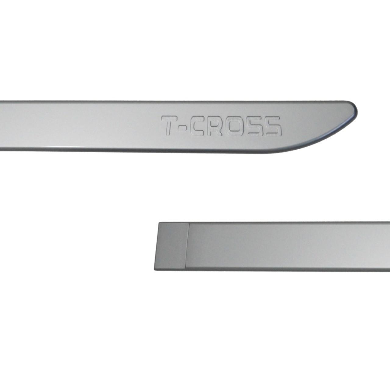 Friso Lateral T-Cross Prata Sargas com nome em baixo relevo