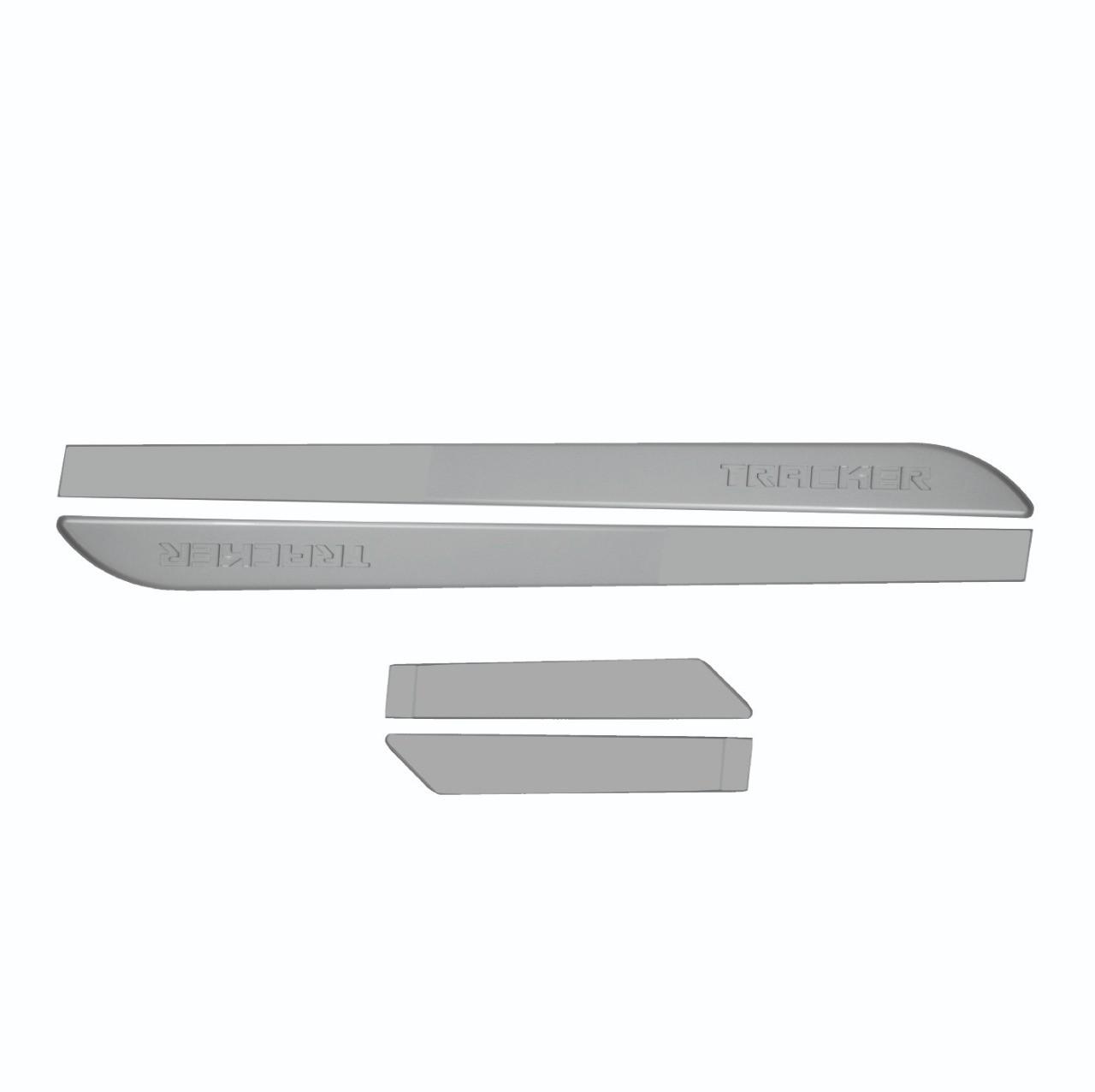 Friso Lateral Tracker Prata Swtchblade com nome em baixo relevo