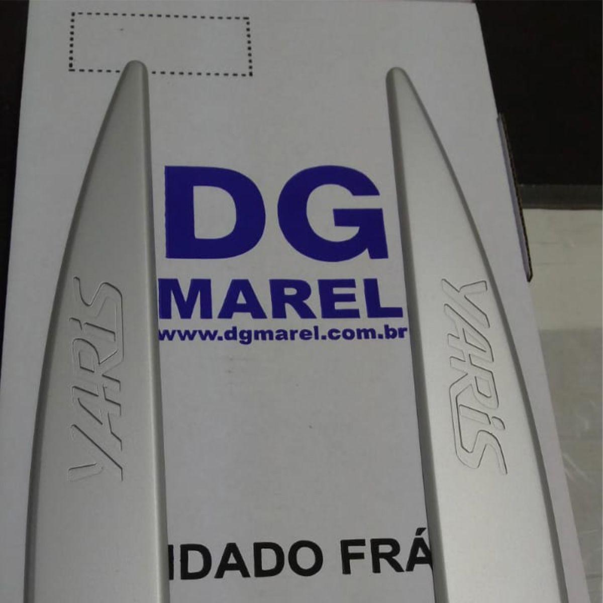Friso Lateral YARIS Prata Premium com nome em baixo relevo