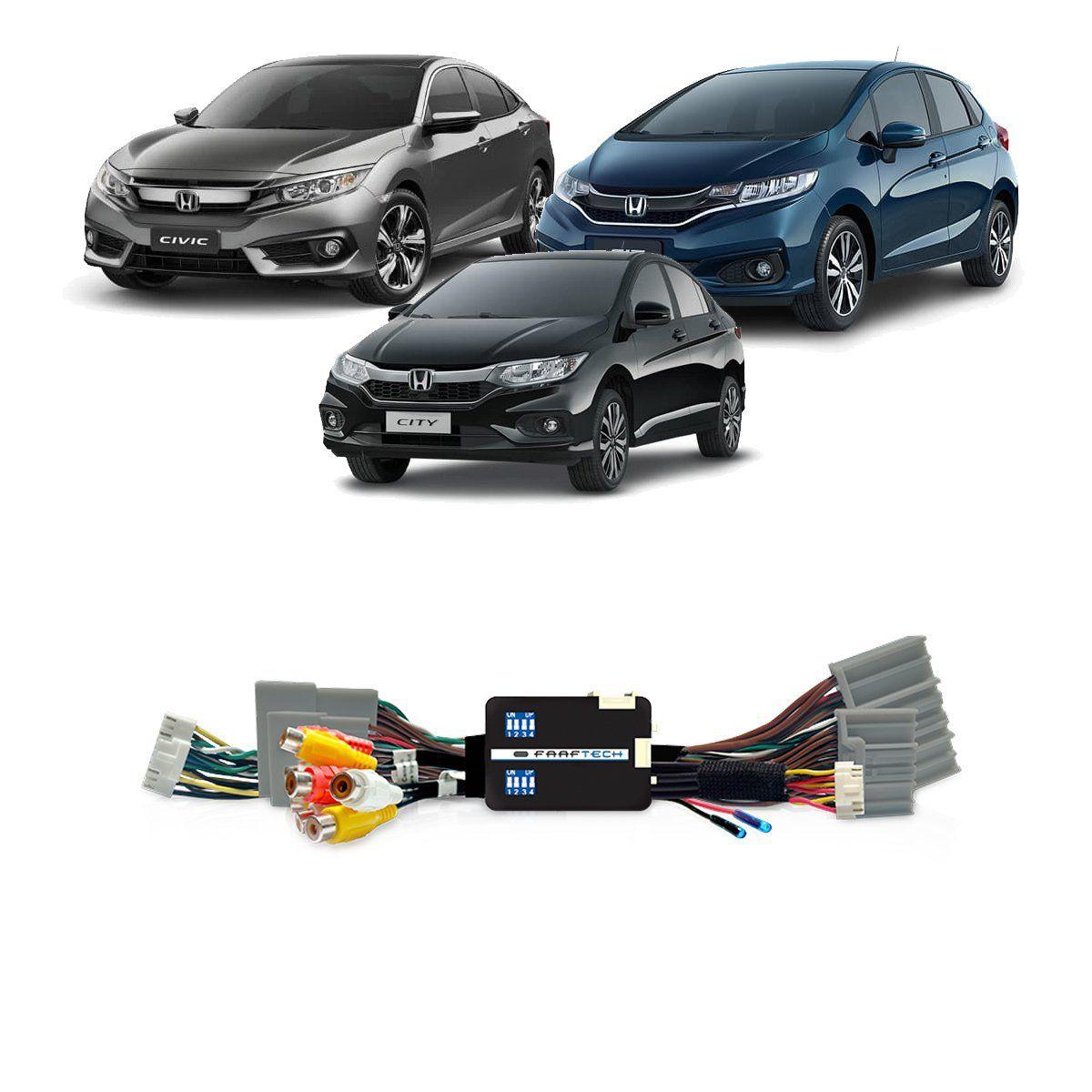 Interface Desbloqueio de Tela Fit City  Civic HR-V e WR-V 2018 Faaftech FT-VF-HND4