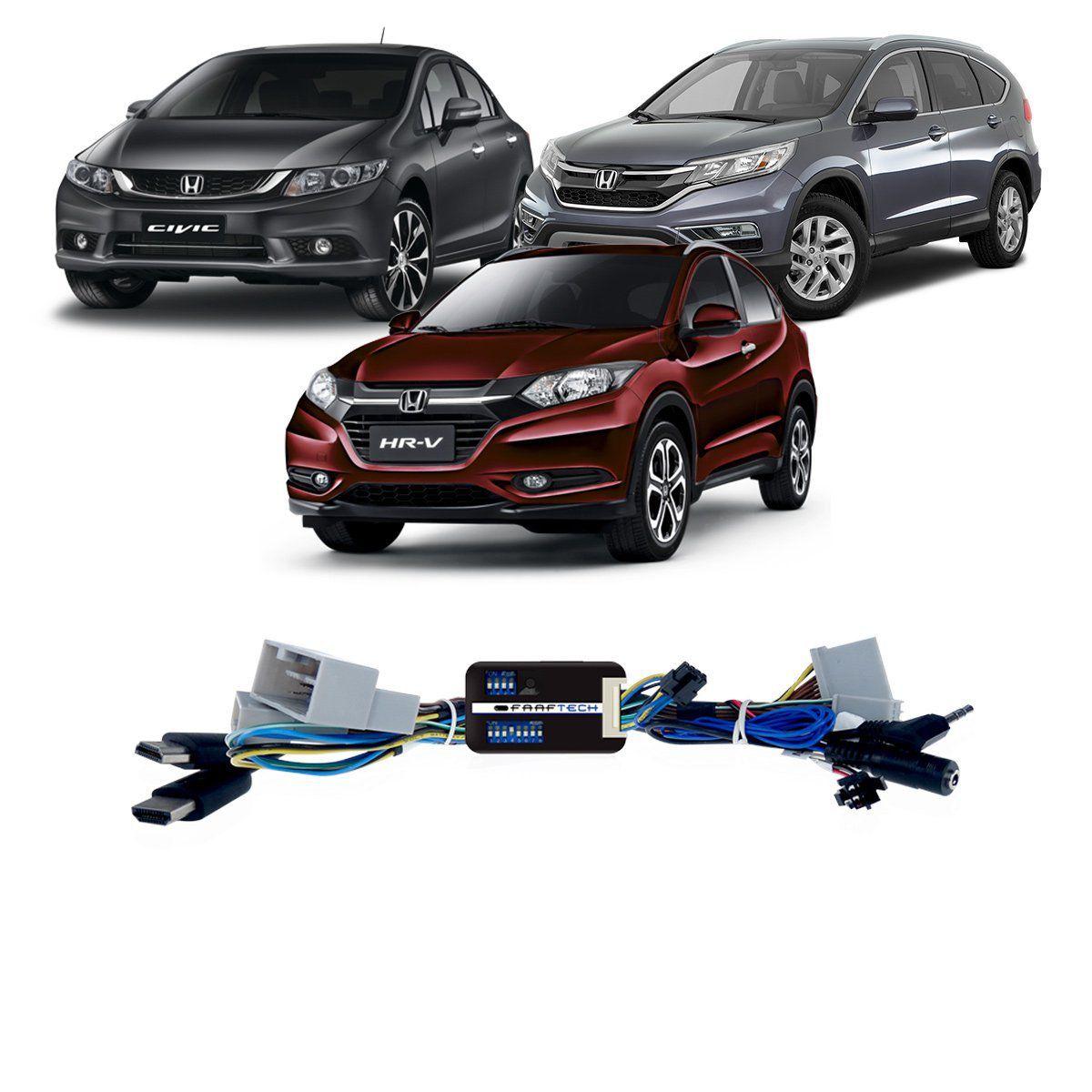 Interface Desbloqueio de Tela Honda HR-V CR-V e Civic Faaftech FT-VIDEO-FREE-HND