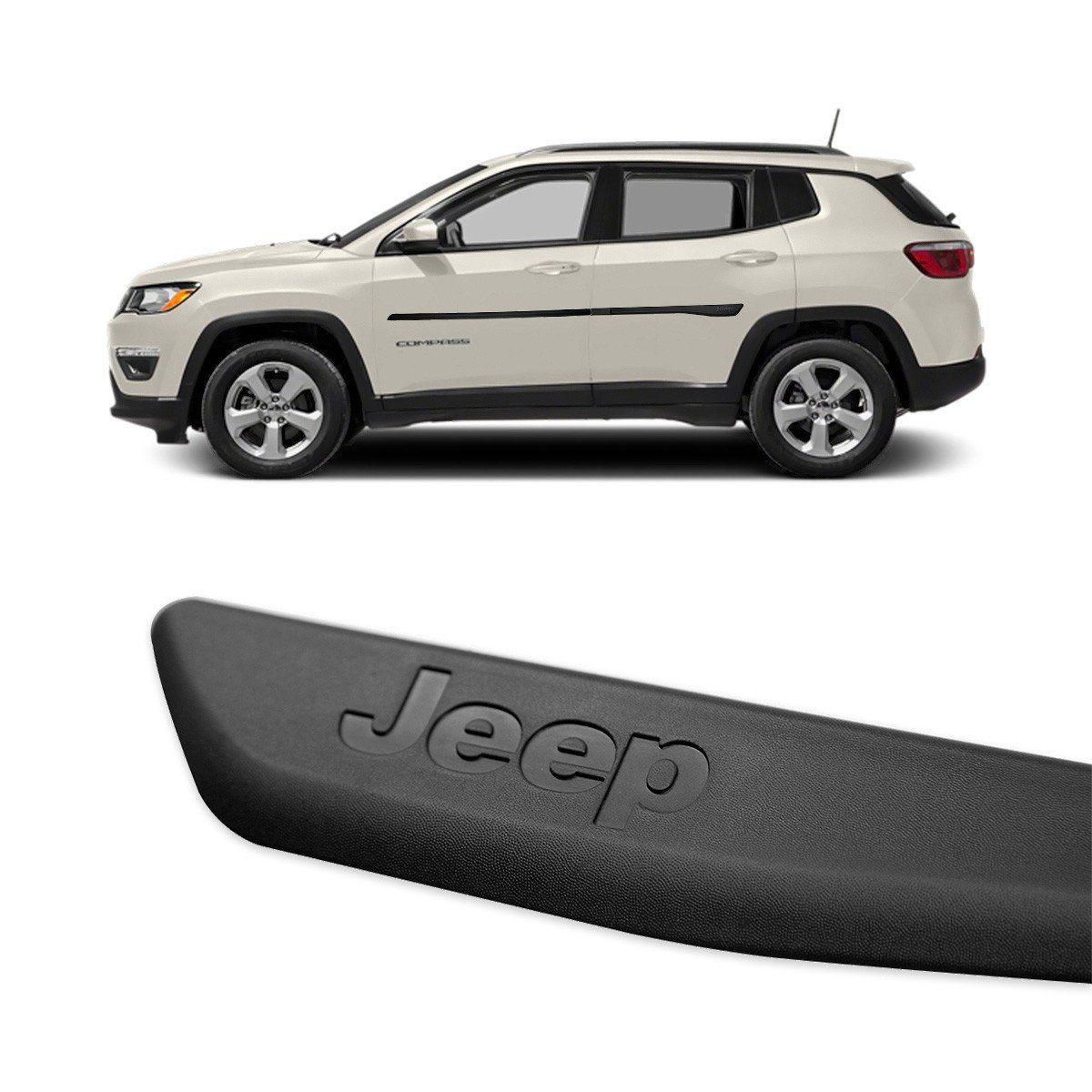 Jogo de Friso Lateral Jeep Compass 2016 2017 Modelo Original