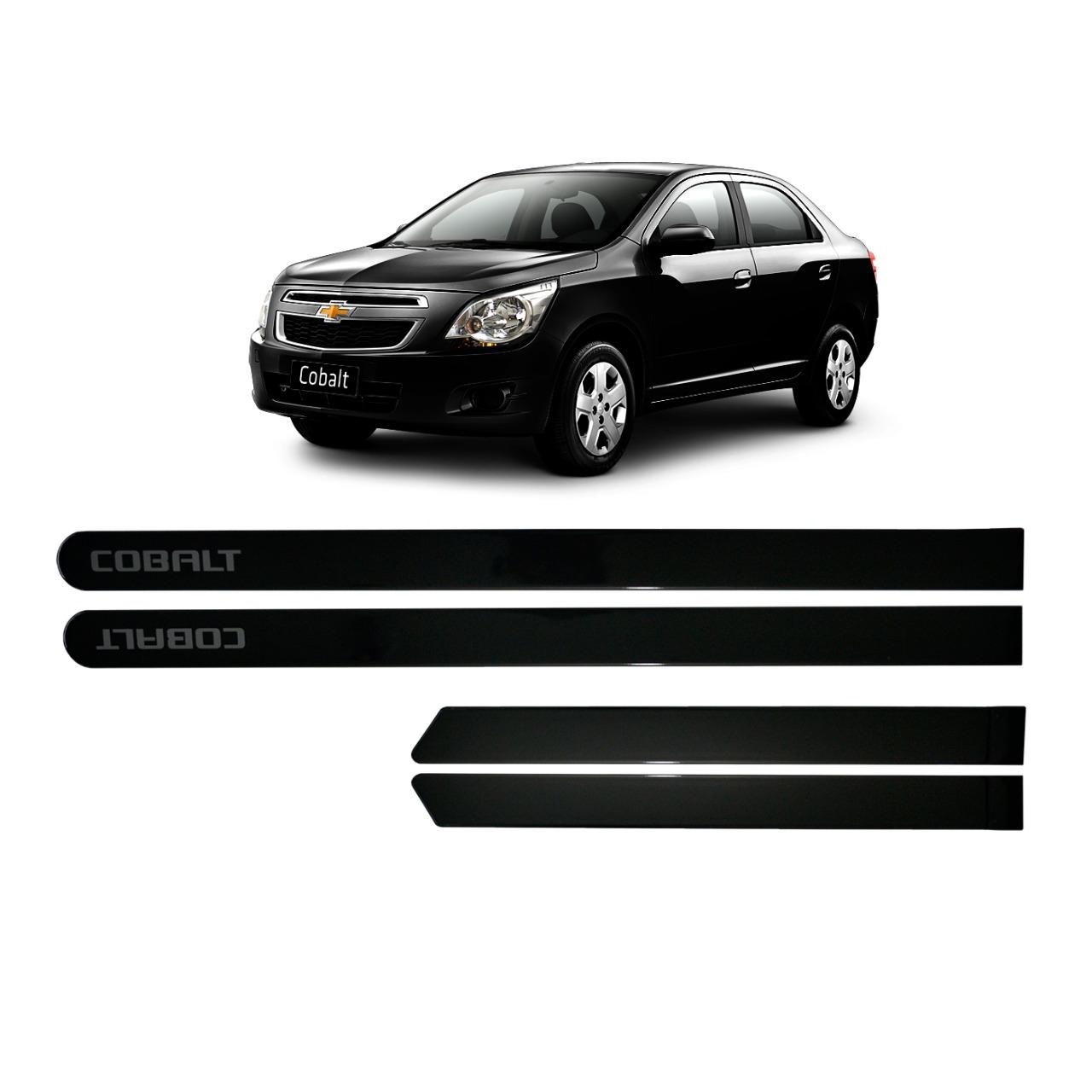 Jogo Friso Lateral Chevrolet Cobalt Preto Negro Personalizado