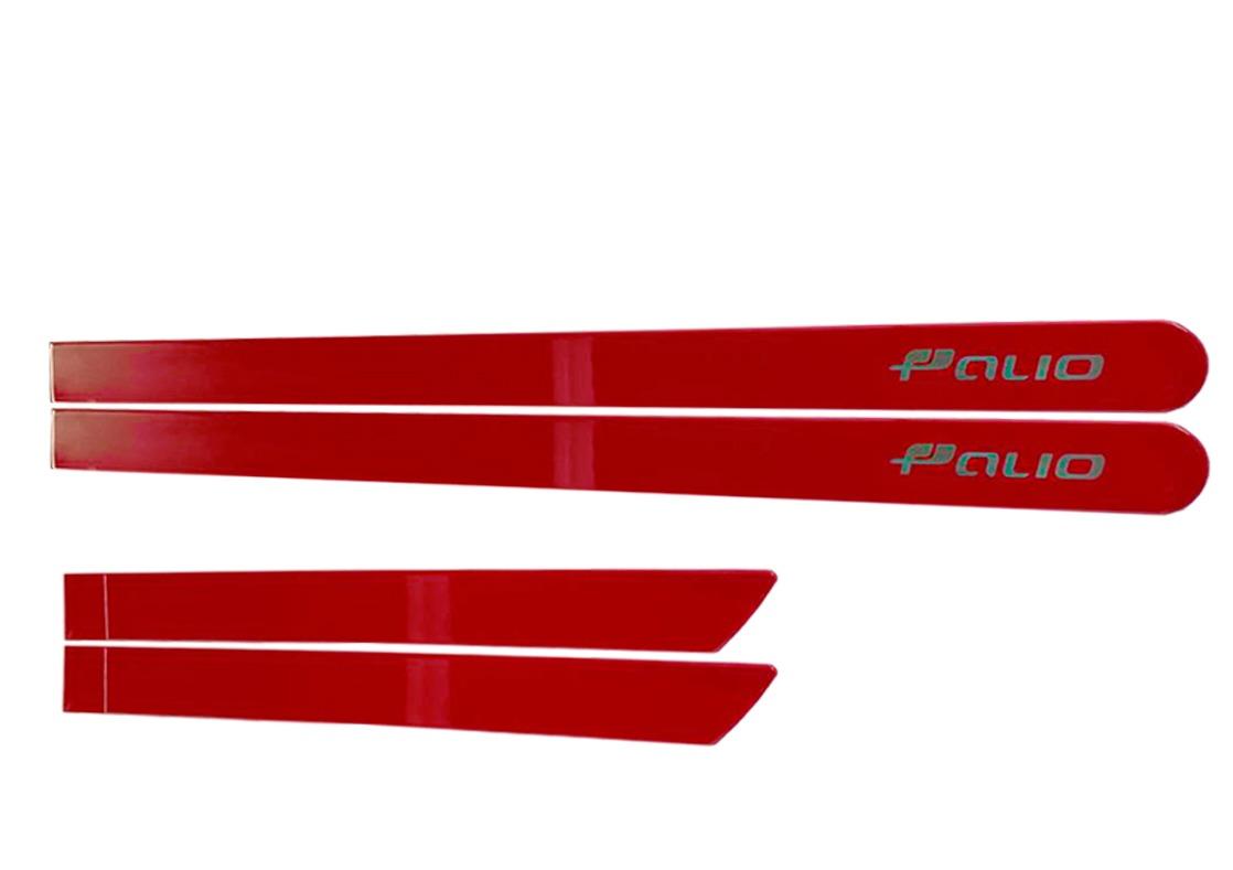 Jogo Friso Lateral Novo Palio Vermelho Moderna Personalizado