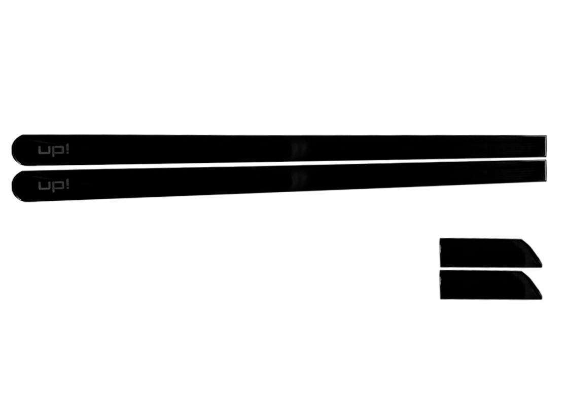 Jogo Friso Lateral Personalizado 2 Portas UP - Preto Ninja