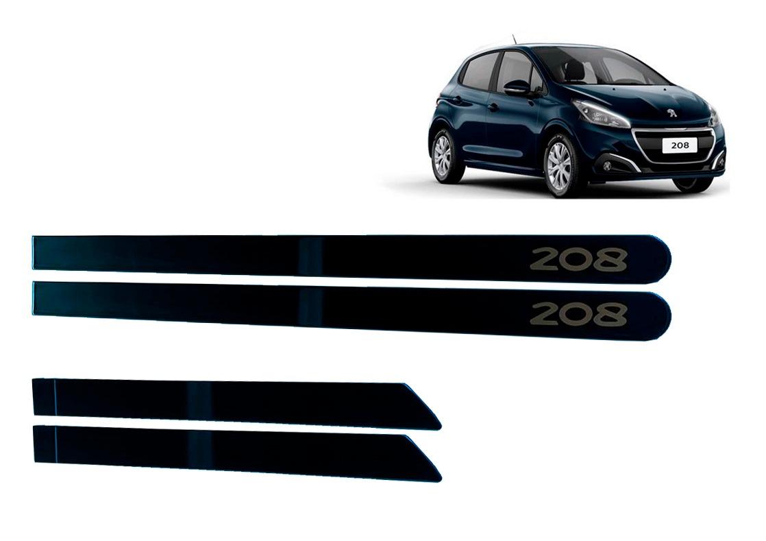 Jogo Friso Lateral Peugeot 208 Azul Bourrasque Personalizado