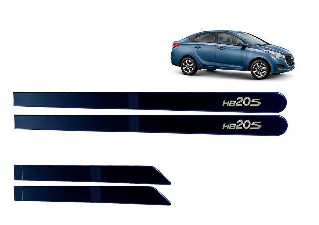 Jogo Lateral de Friso Personalizado HB20 Sedan Azul SKY