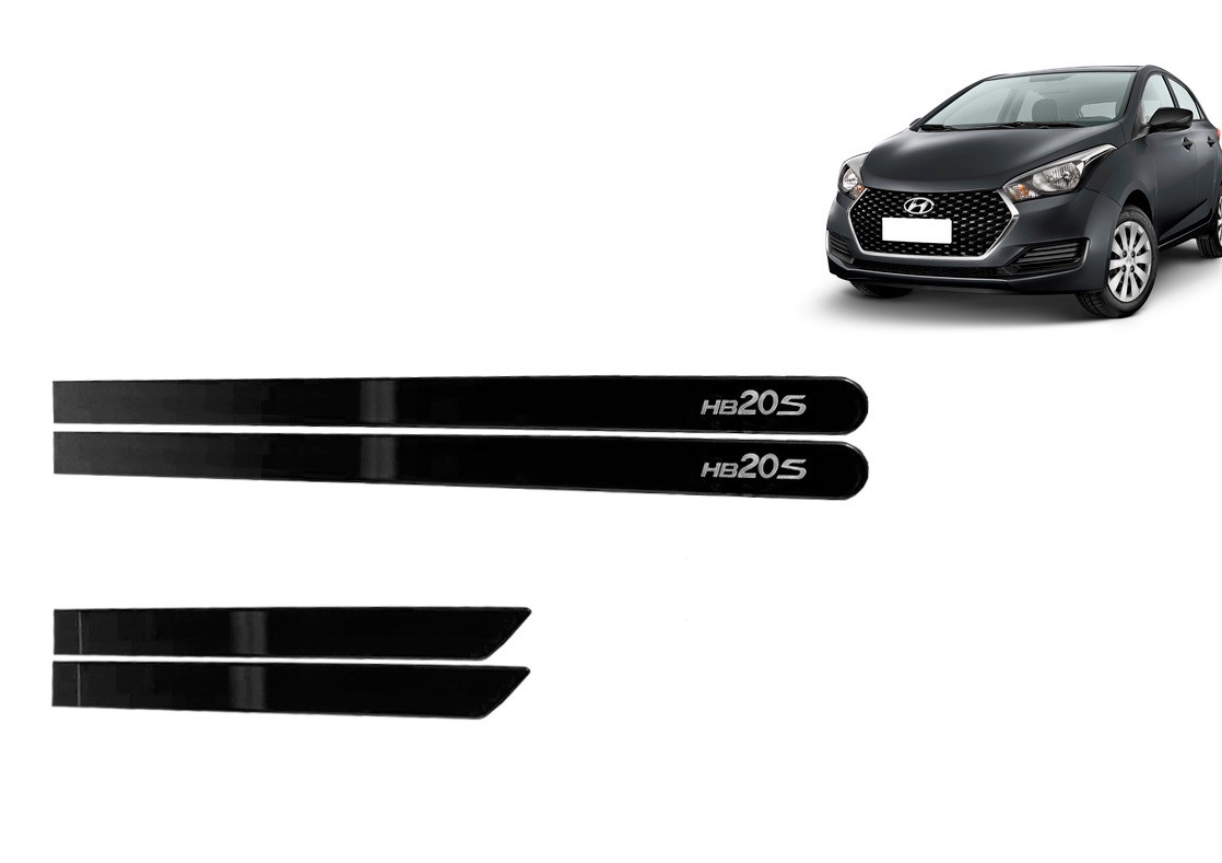 Jogo Lateral Personalizado Hyundai HB20 Sedan Cinza Titanium