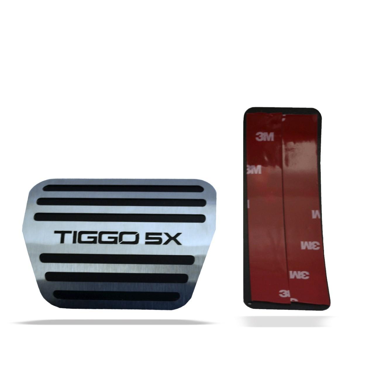 Descanso de Pé + Pedaleira em Aço Inox Tiggo 5X