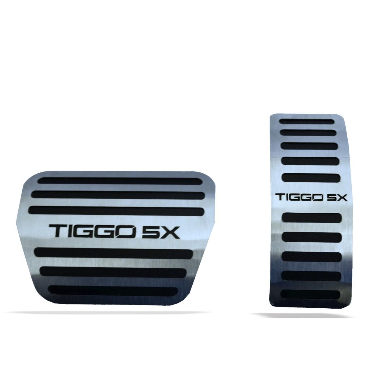 Soleira Resinada Premium Elegance + Descanso de Pé + Pedaleira em Aço Inox Tiggo 5X