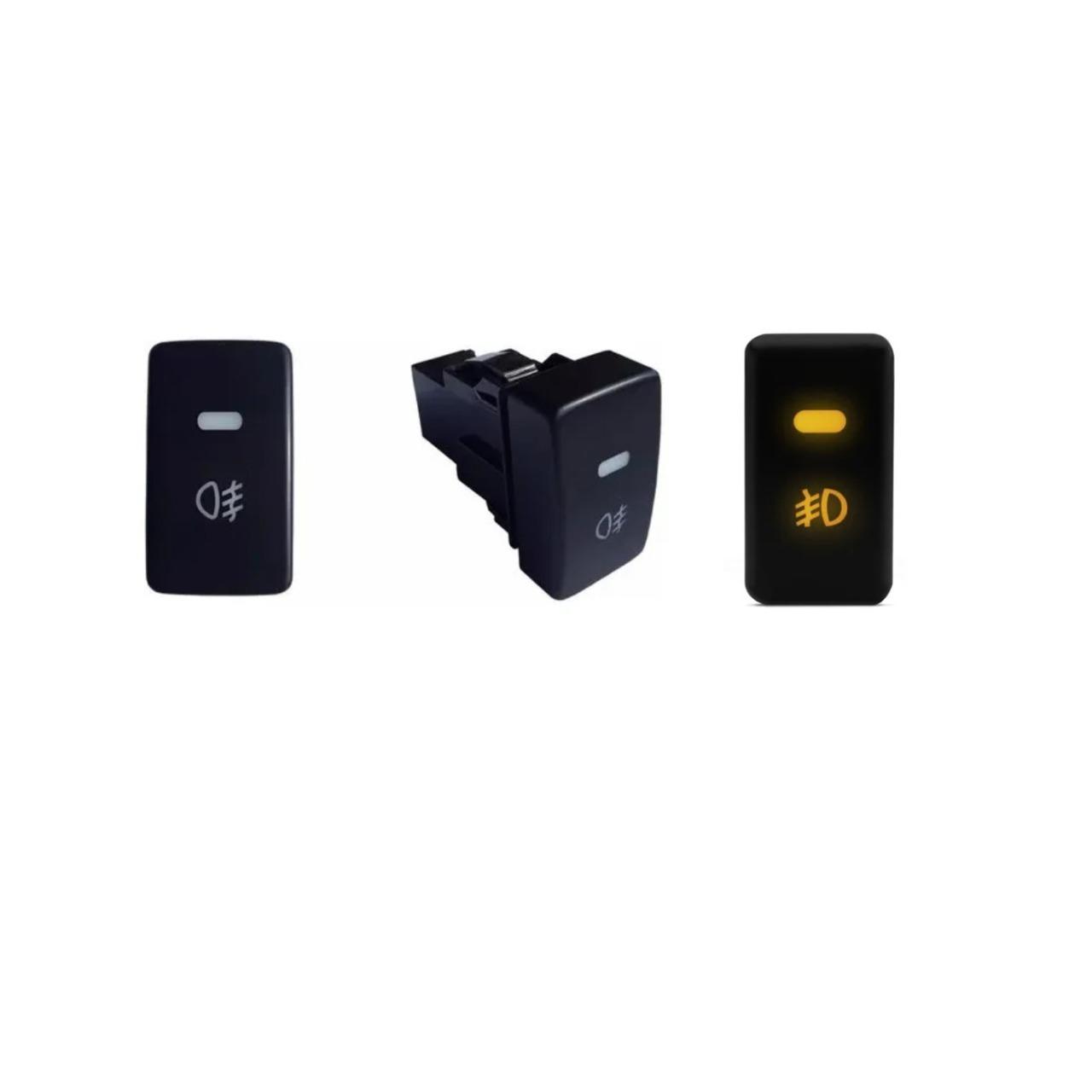 Kit Farol de Milha Fit 2012 até 2014 Botão Modelo Original e Moldura FTS215HD