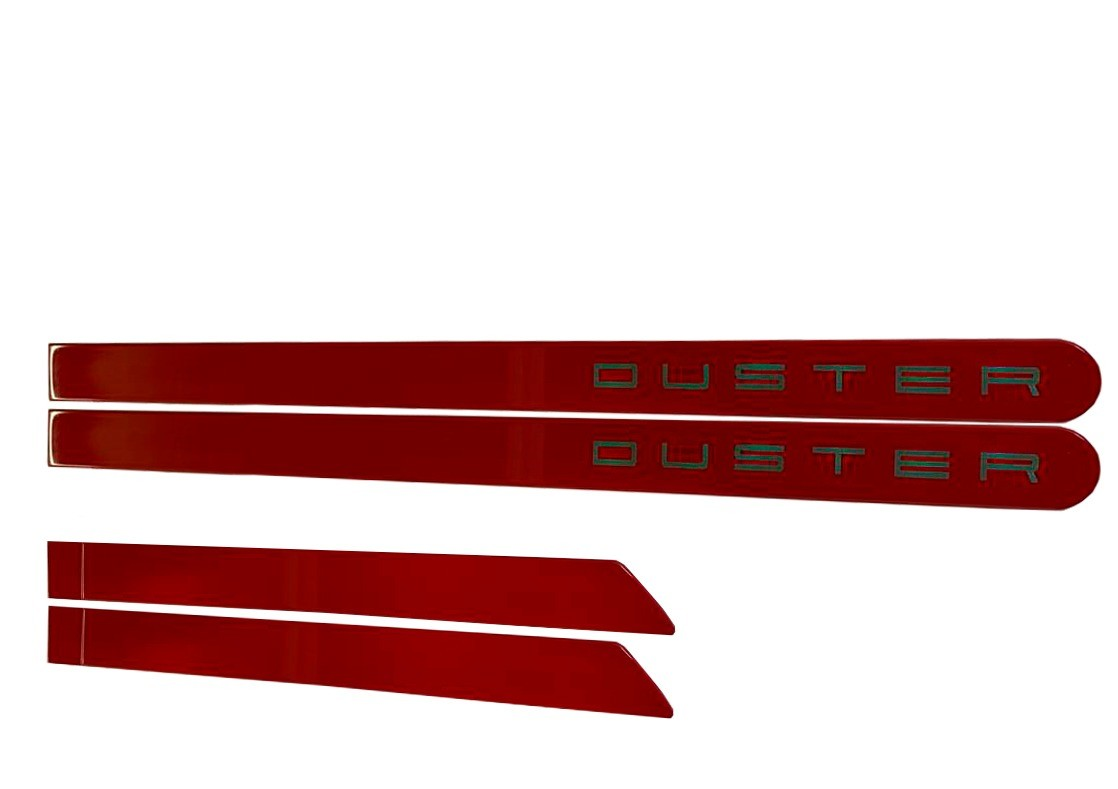 Kit Friso Duster Personalizado Vermelho Vivo