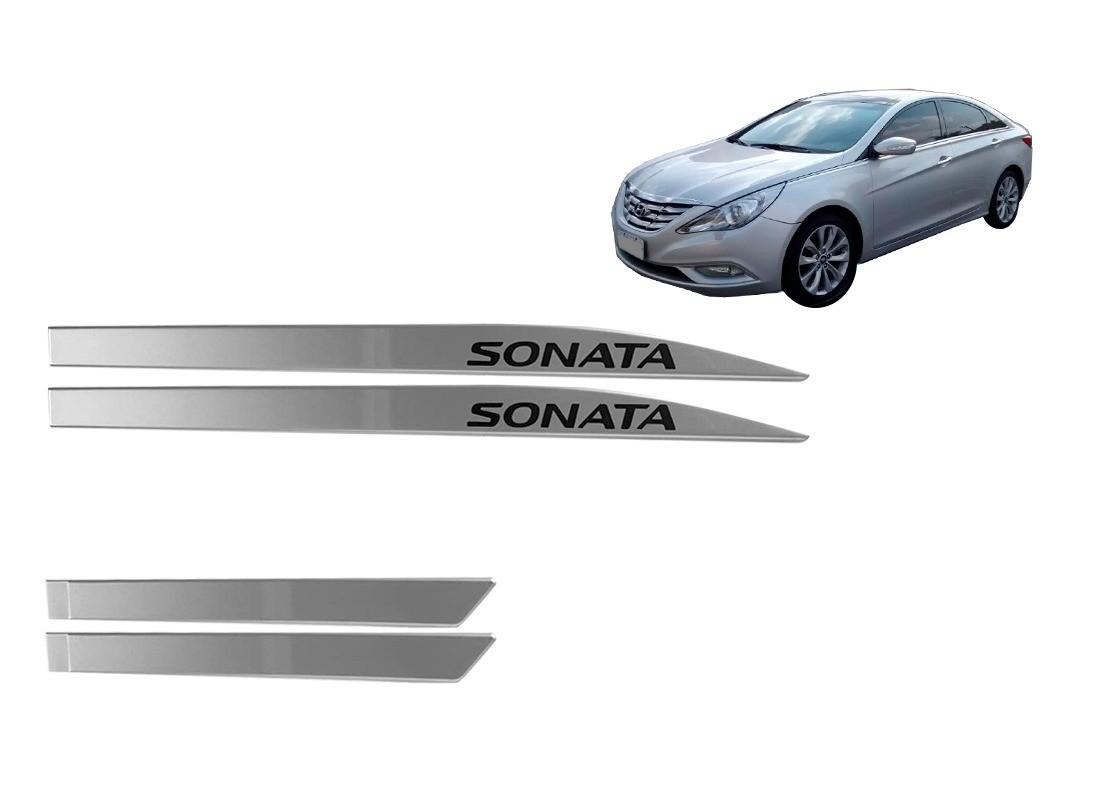 Kit Friso Lateral Hyundai Sonata Prata Personalizado Prata