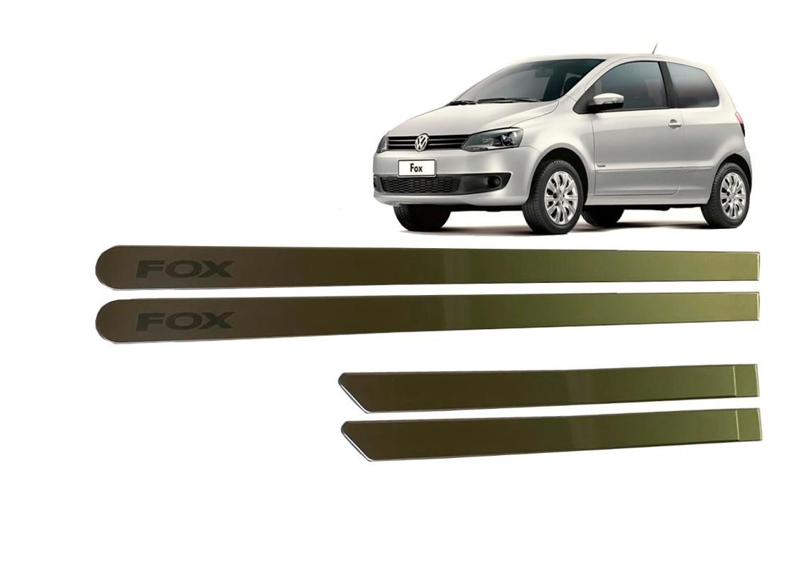 Kit Friso Lateral VW Fox Personalizado Prata Tungsten