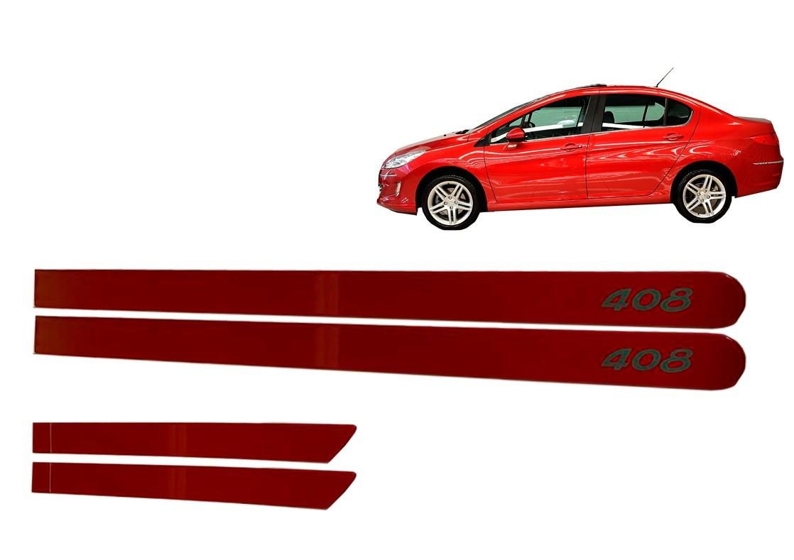 Kit Friso Pegeout 408  Personalizado Vermelho Aden
