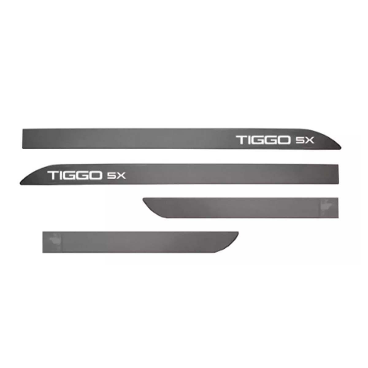 Kit Friso Personalizado Lateral Chery Tiggo 5X Cinza Metalico