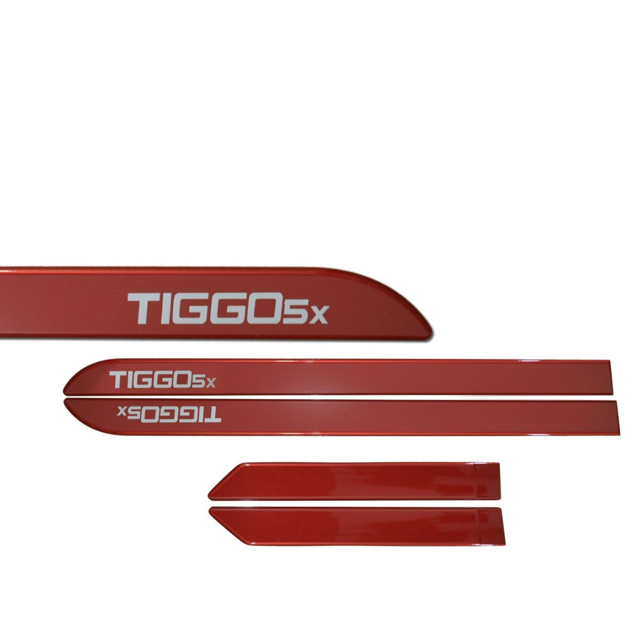 Kit Friso Personalizado Lateral Chery Tiggo 5X Vermelho Perolizado