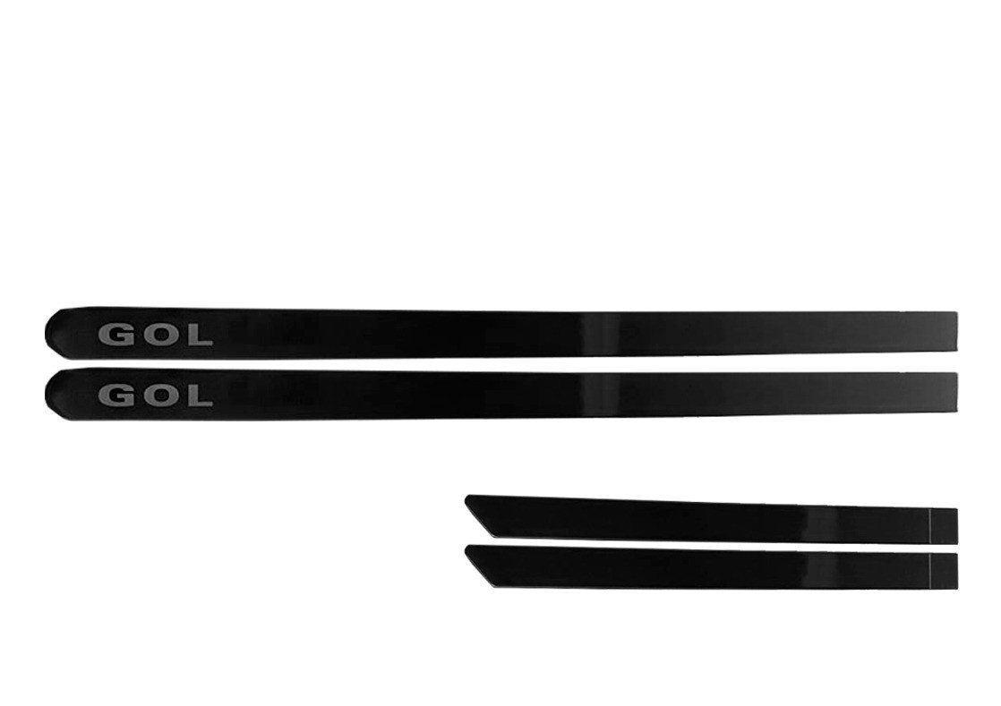 Kit Friso Personalizado Novo Gol 4 Portas Cinza Quartzo