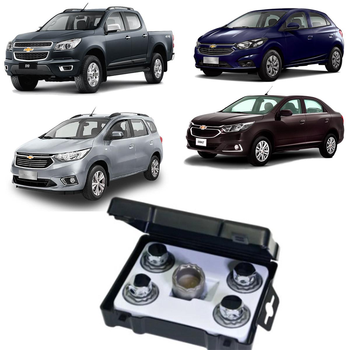 Kit Porca Antifurto Farad Cromada Chevrolet Volvo GALAXYLOCK H/M