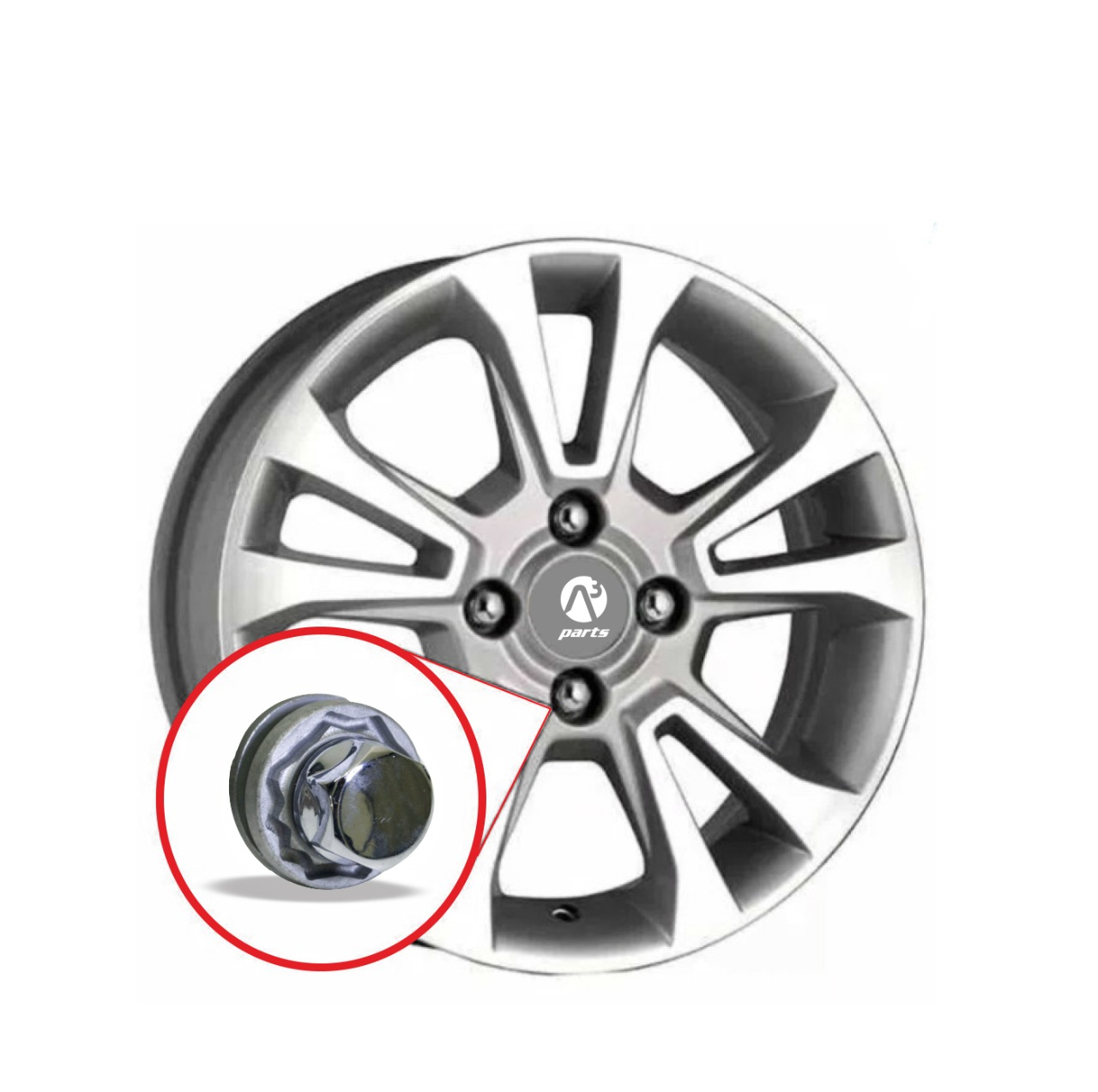 Kit Porca antifurto para rodas Galaxy Lock Toyota Lexus Lifan  382/M