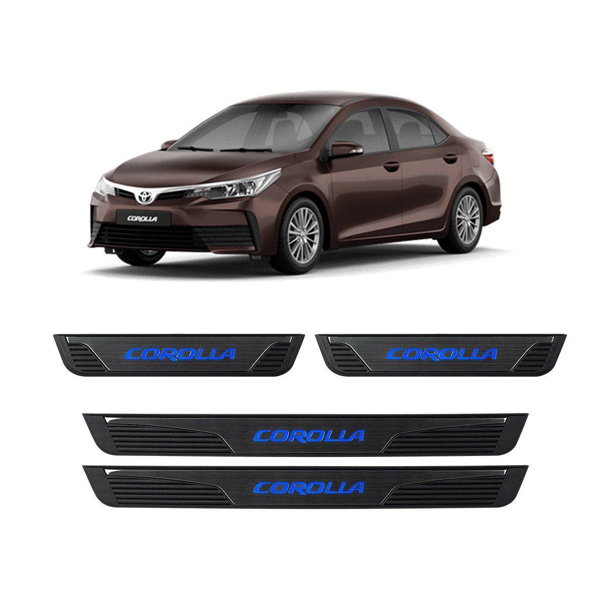 Kit Soleira de Porta C/ LED Corolla 2014 em diante 2018 Inox