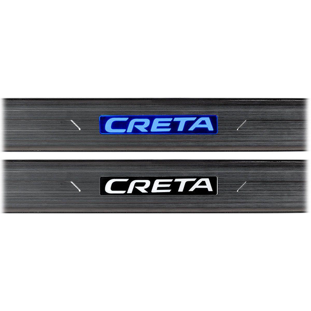 Kit Soleira de Porta C/ LED Creta 2017 2018 Inox Iluminada