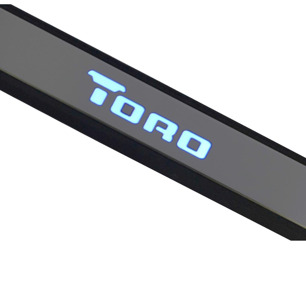 Kit Soleira de Porta C/ LED Fiat Toro Inox Iluminada SLA882