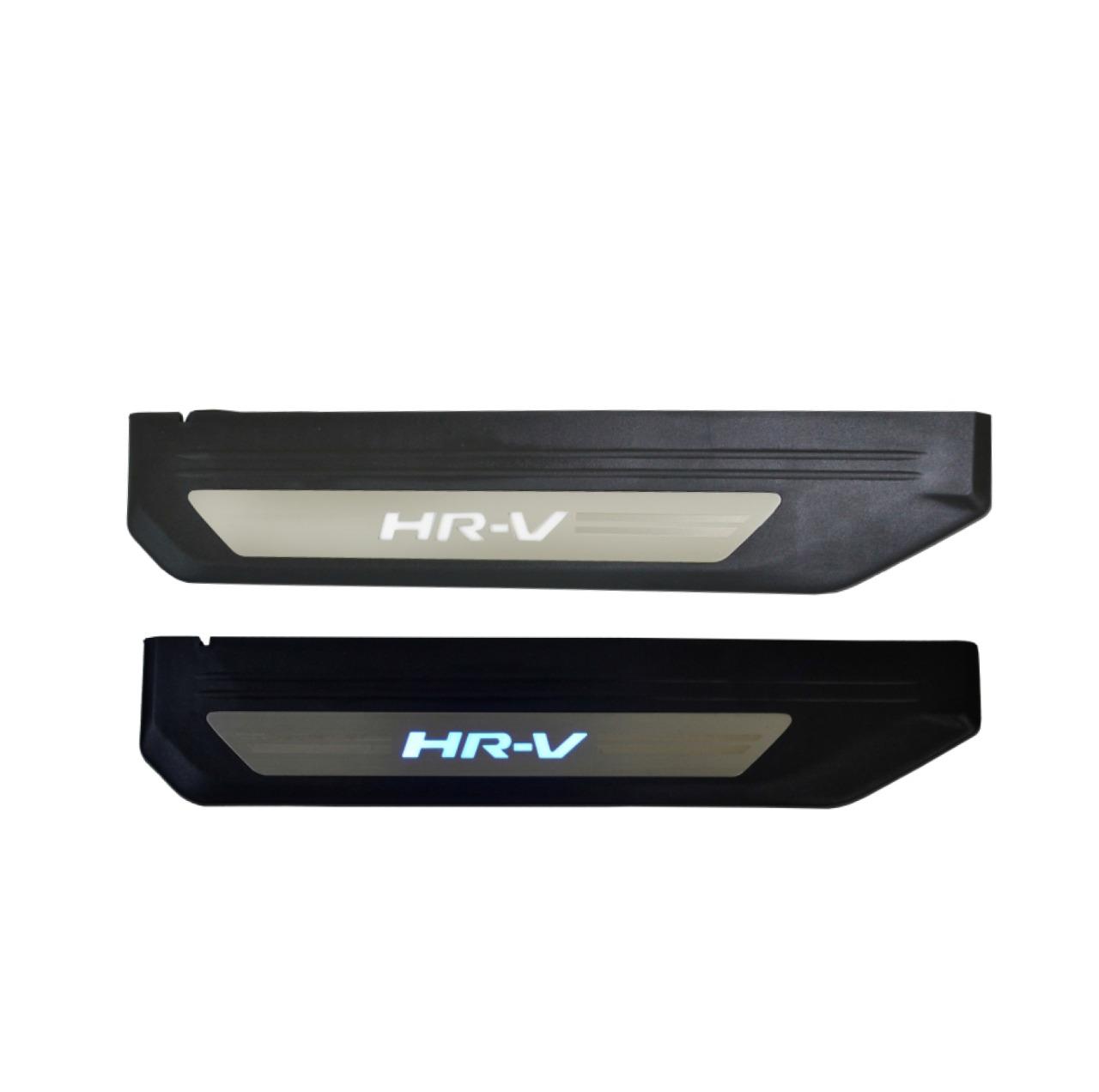 Kit Soleira de Porta C/ LED Honda HR-V Inox Iluminada SLA878