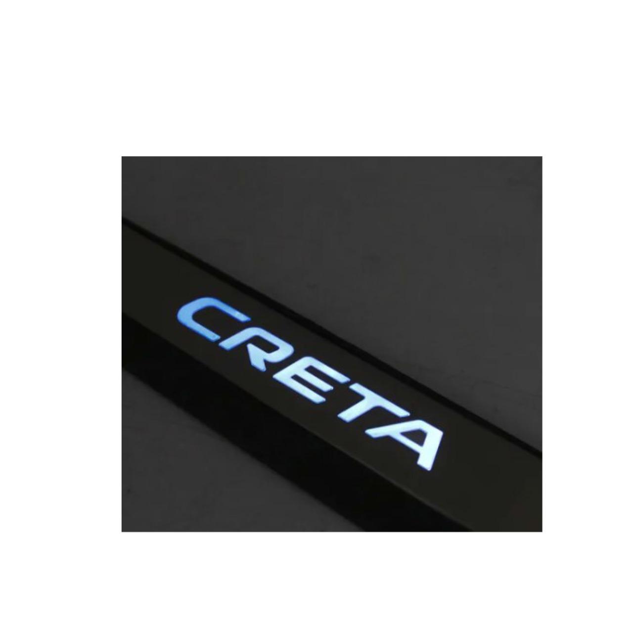 Kit Soleira de Porta C/ LED Creta Inox Iluminada