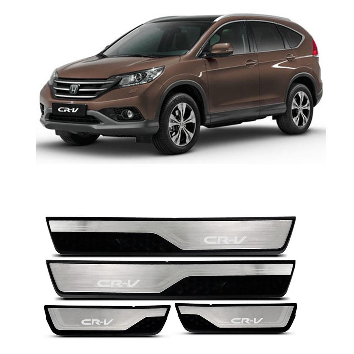 Kit Soleira de Porta Com LED Honda CR-V Inox Iluminada SOL010