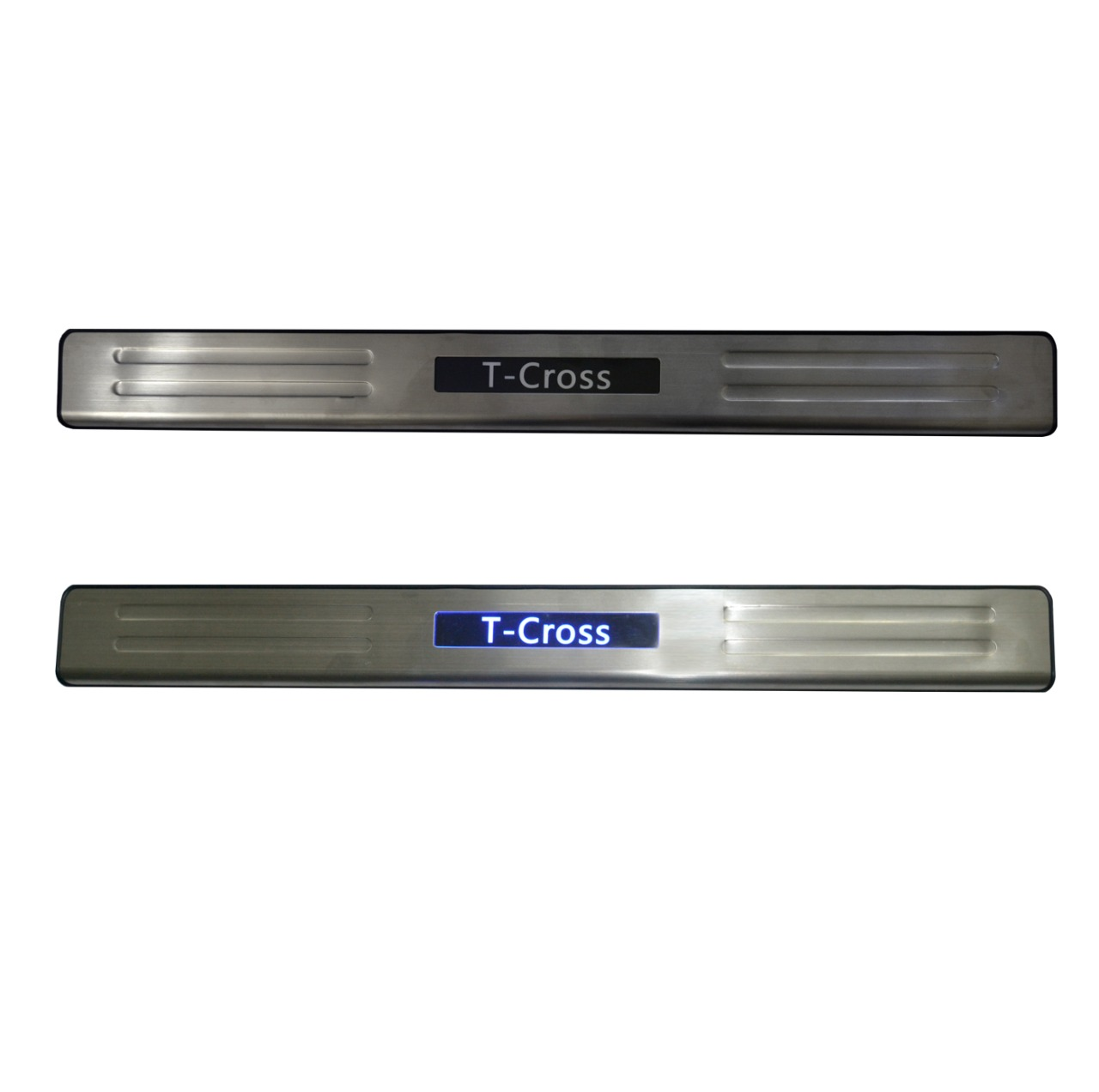 Kit Soleira de Porta Com LED T-Cross Inox Iluminada SLA887