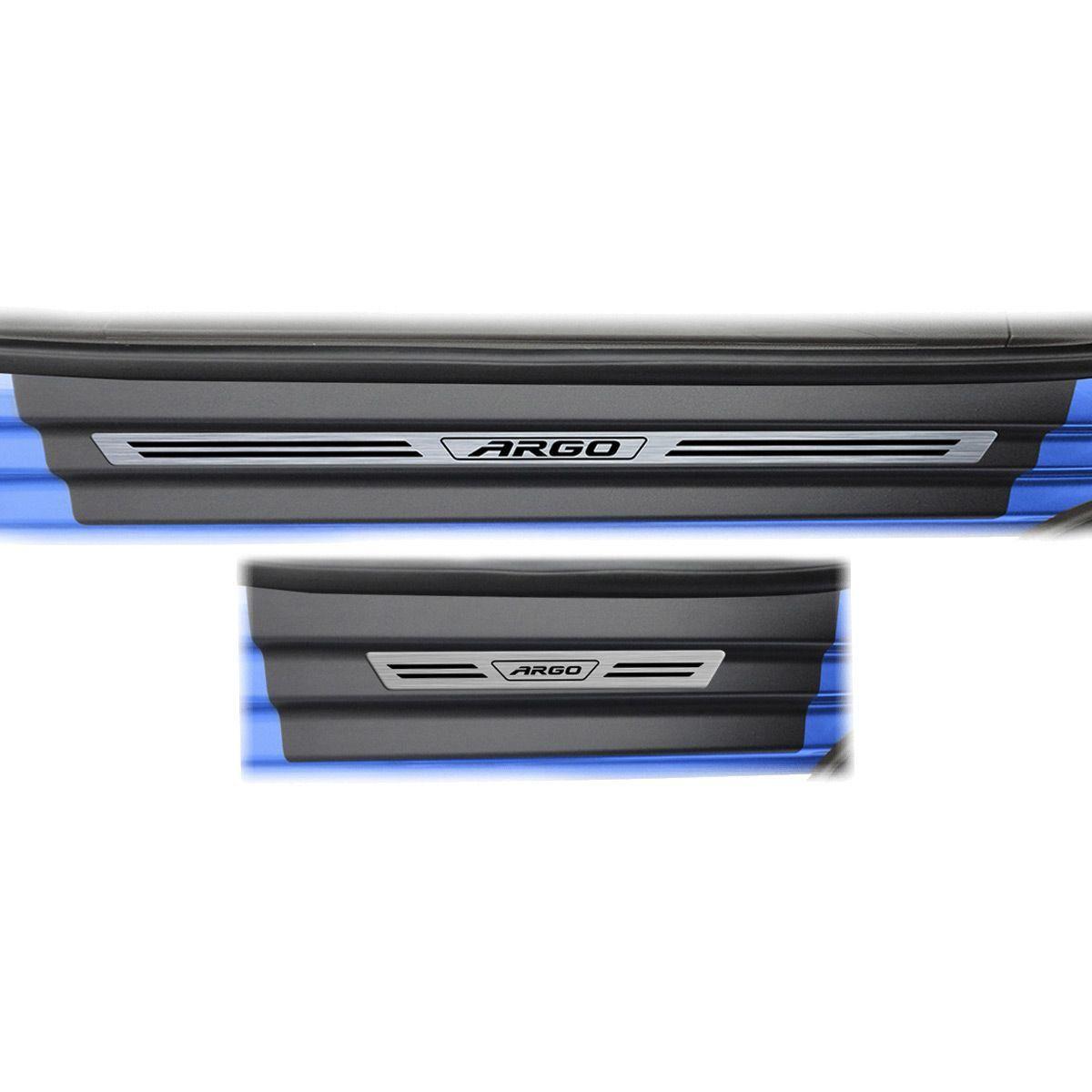 Soleira Porta Argo Resinada Premium Modelo Aço Escovado