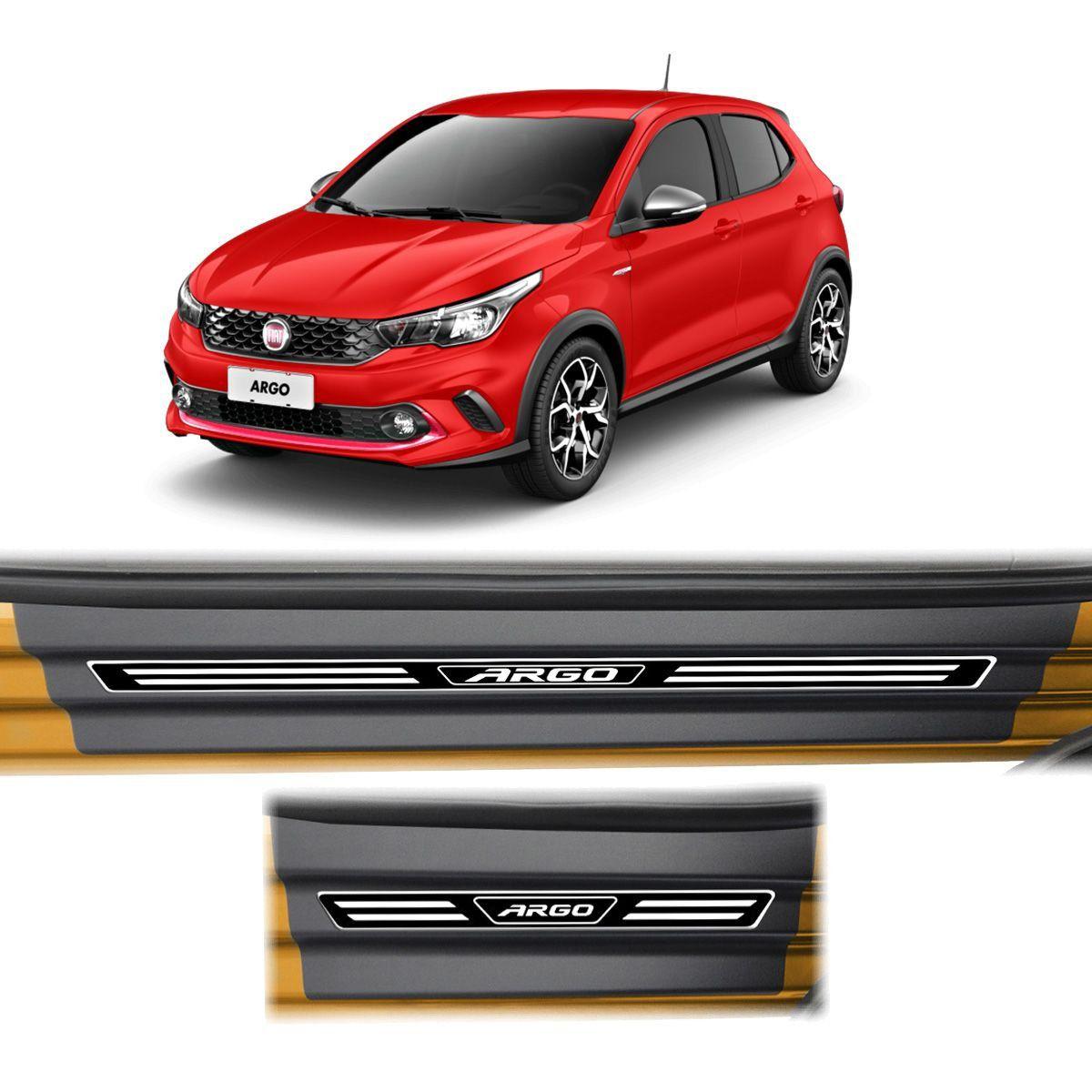 Soleira Porta Fiat Argo 2018 Resinada Elegance Premium