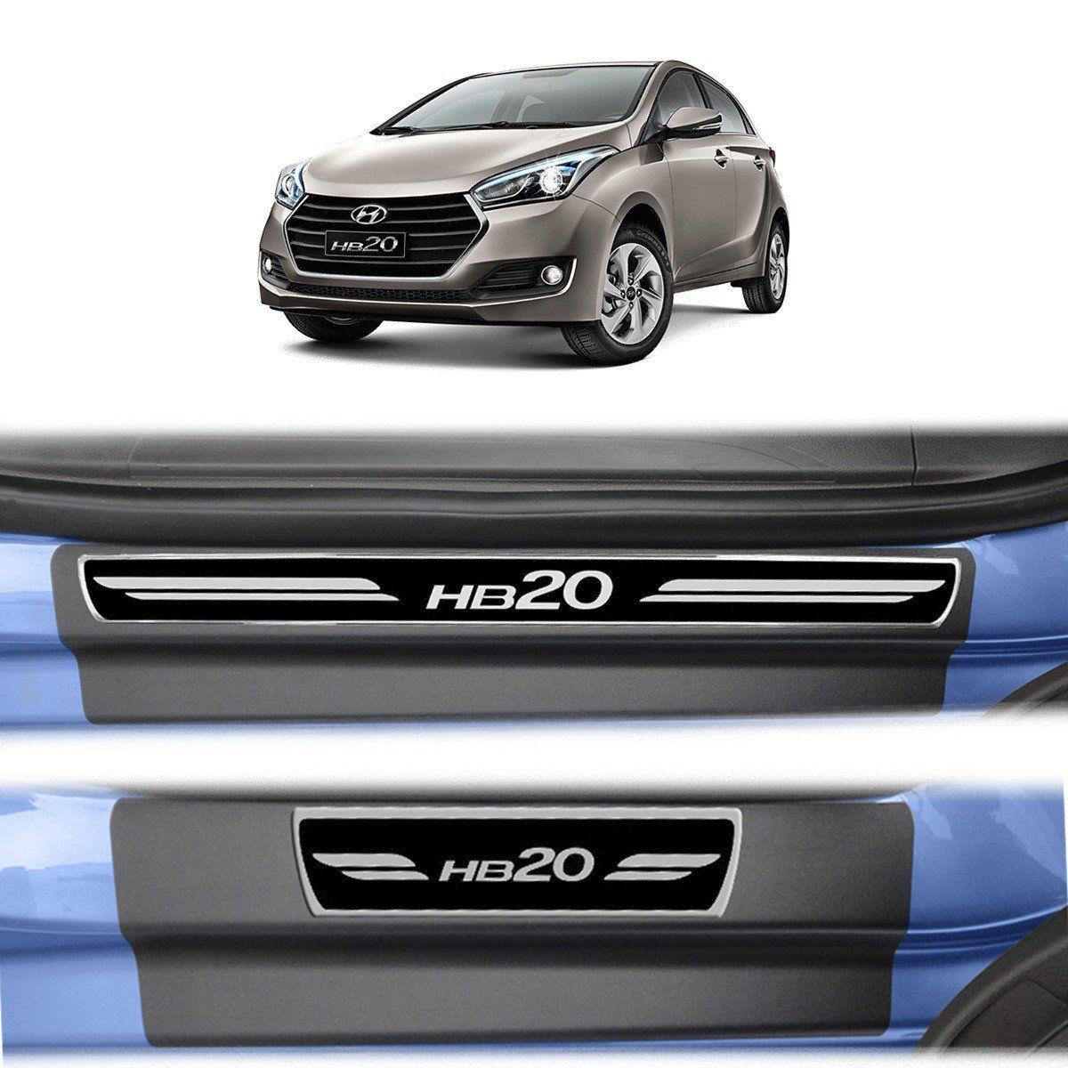 Soleira Porta HB20 Hatch Resinada Premium Modelo Elegance