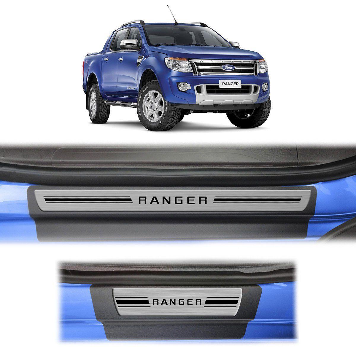 Soleira Porta Ranger Resinada Premium Aço Escovado